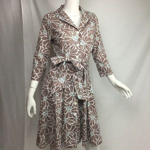Boden floral shirt dress